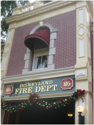 The Fire House with Walt's apartment on top.