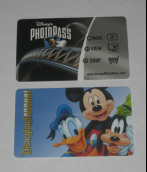 Above - Ride PhotoPass card<br> Below - Annual Passport can be used as a PhotoPass