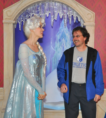 Elsa and I talking