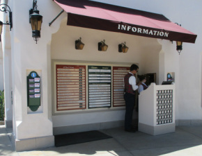 Kiosk at Disney California Adventure